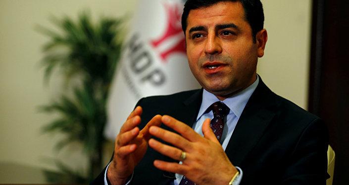 Selahattin Demirtas, el candidato presidencial por el Partido Democrático de los Pueblos