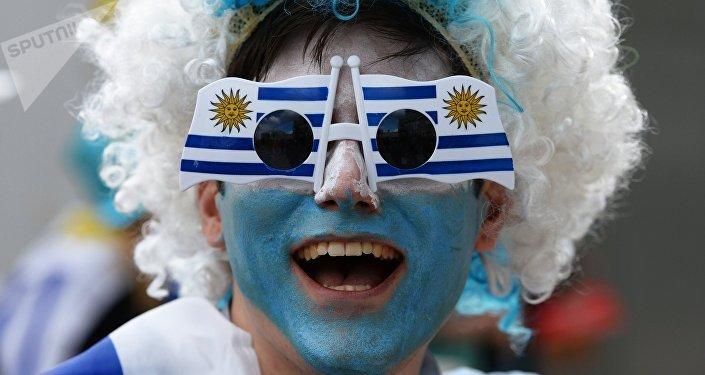 Un hincha uruguayo
