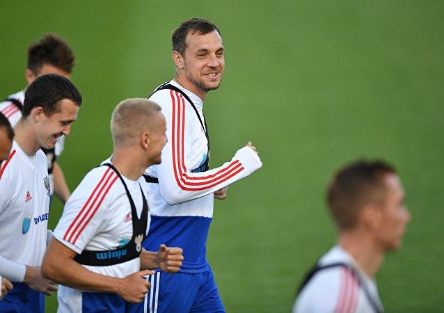 Entrenamiento de la selección de Rusia de fútbol