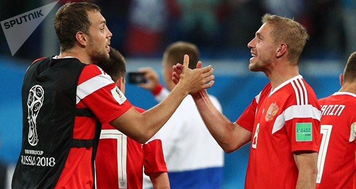La selección rusa del fútbol