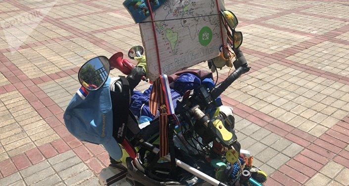 Así es la bicicleta de Matyas