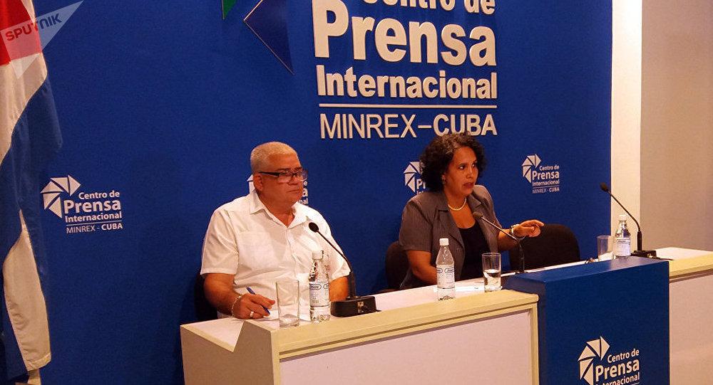 Idalmis Brooks, miembro comité organizador del XXIV Encuentro del Foro de Sao Paolo, La Habana, Cuba