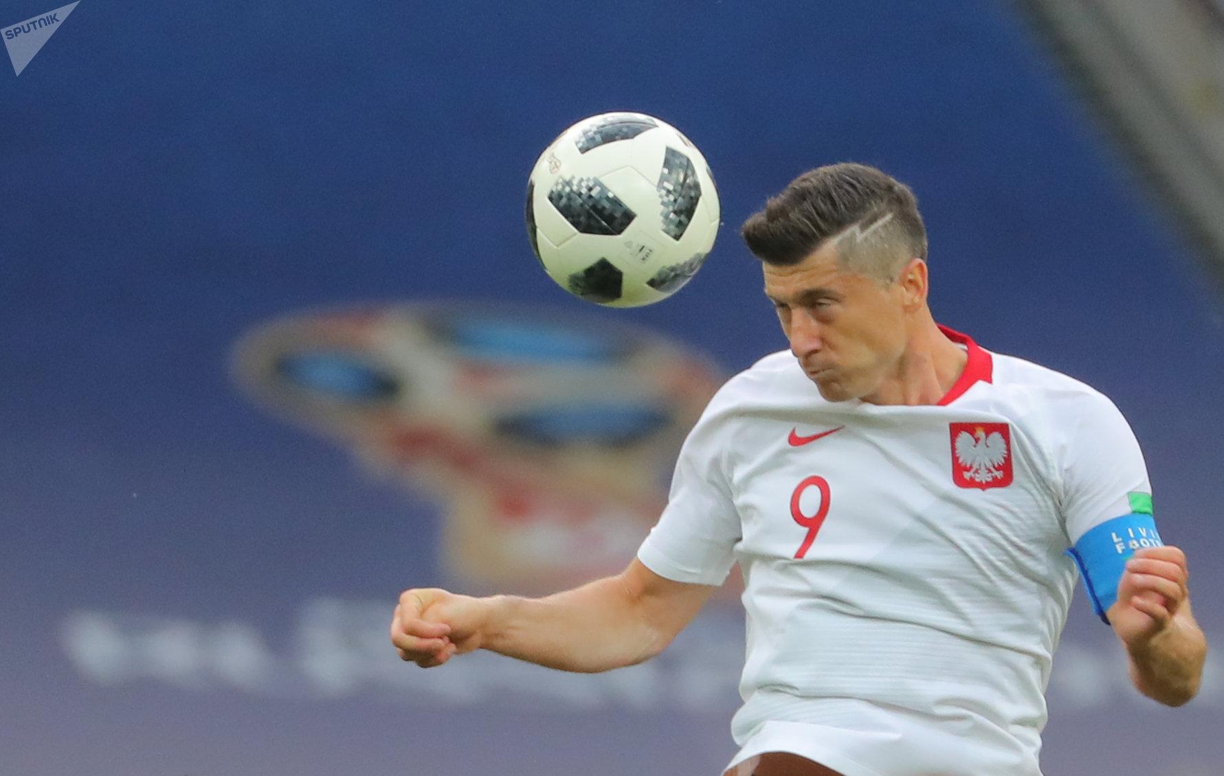 Robert Lewandowski, jugador de Polonia