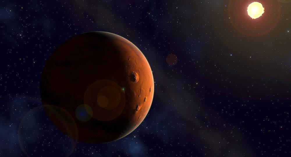 Marte y el Sol (imagen referencial)