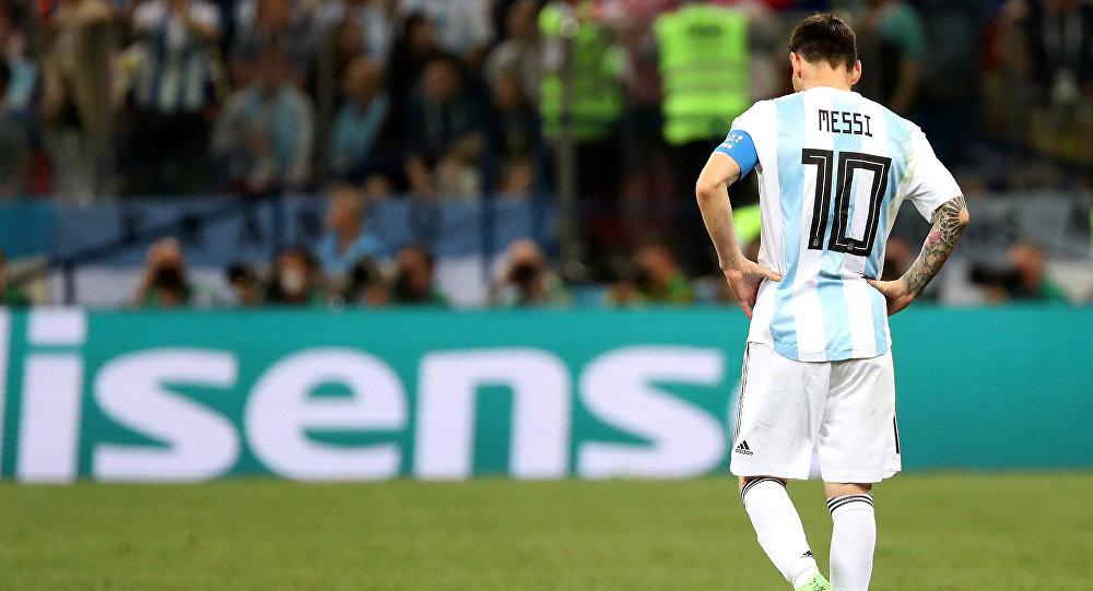 Lionel Messi, delantero argentino, durante el partido entre Argentina y Croacia
