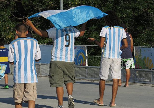 Hinchas argentinos, foto archivo