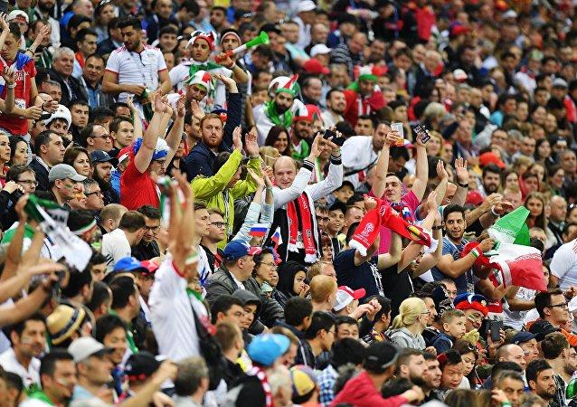 Hinchas españoles en el Mundial de Rusia