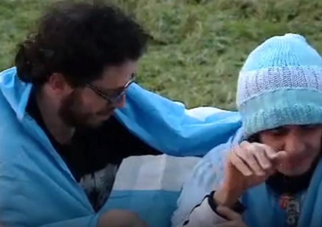 Alegría y lágrimas de dolor: los hinchas reaccionan a la batalla Argentina-Croacia