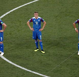 Jugadores de las selecciones de Islandia