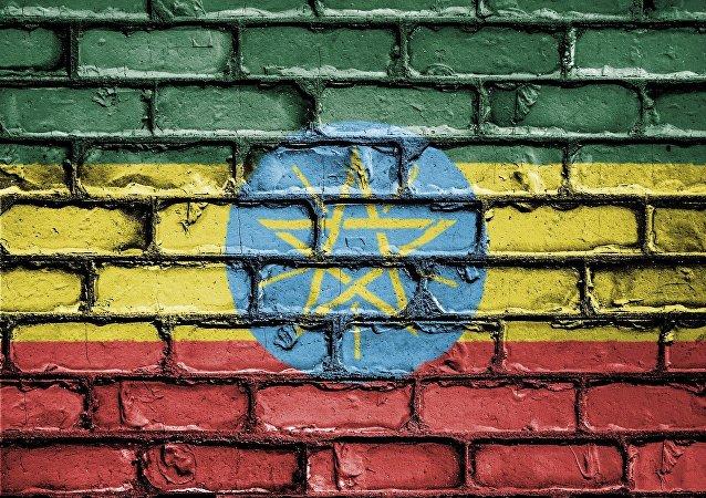 Bandera de Etiopía (imagen referencial)