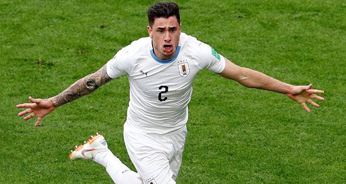 José María Giménez, defensor de la selección de fútbol de Uruguay