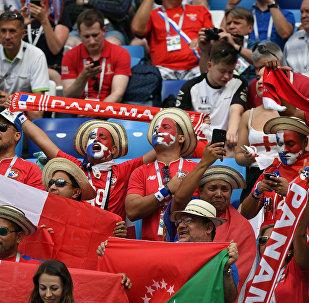 Los hinchas en el partido entre Panamá e Inglaterra en el estadio de Nizhni Nóvgorod