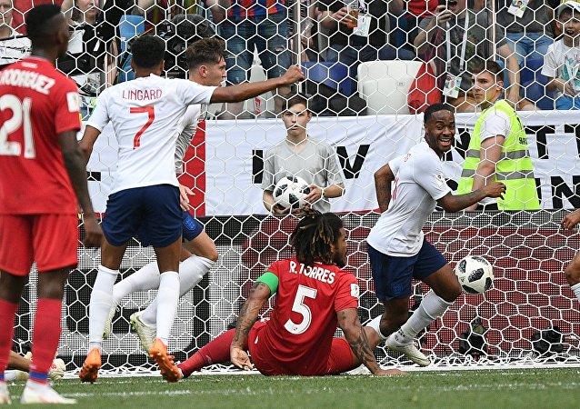 El partido Panamá-Inglaterra