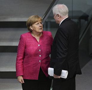 Ángela Merkel, canciller de Alemania, y Horst Seehofer, ministro del Interior y líder de la Unión Social Cristiana de Baviera