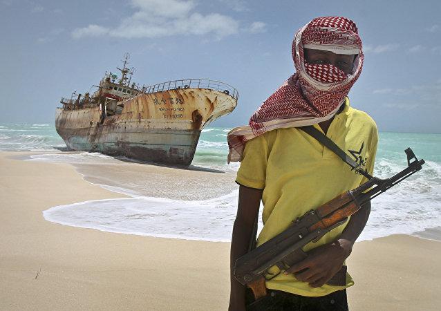 Un pirata somalí (archivo)