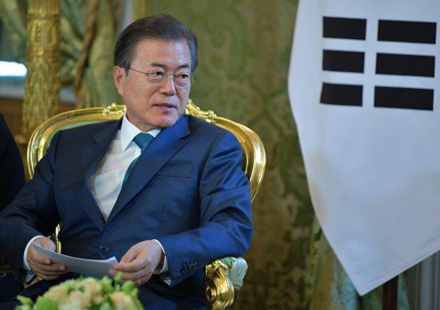 Moon Jae-in, el presidente de Corea del Sur (archivo)