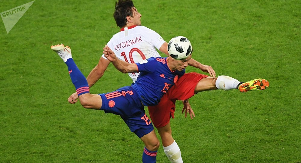 El partido entre Colombia y Polonia
