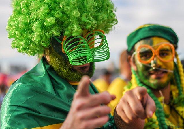 Hinchas brasileños en Rusia