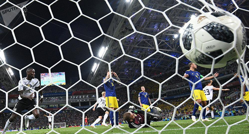 Partido entre Alemania y Suecia en el Mundal Rusia 2018