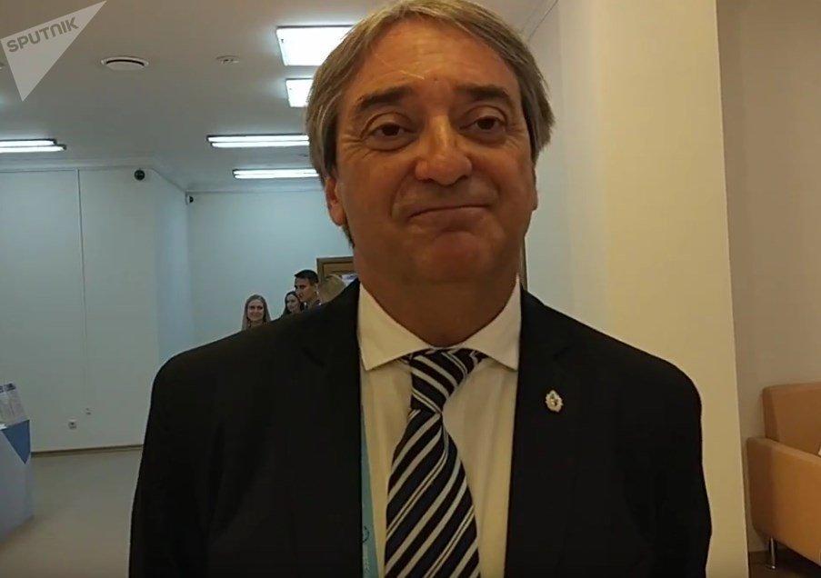 Fernando Cáceres, secretario de Deportes de Uruguay