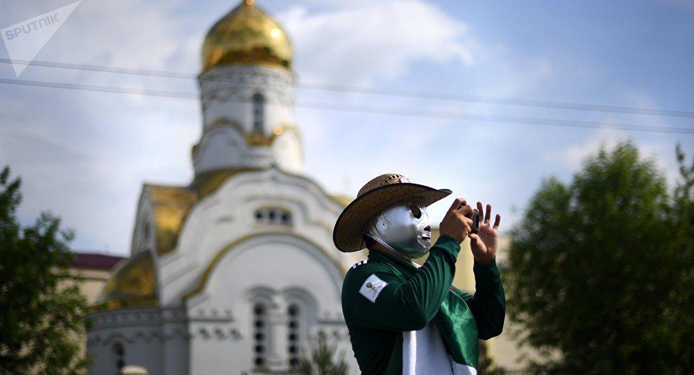 Un hicnha mexicano en Ekaterimburgo