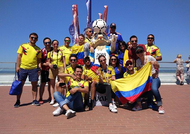 Hinchas de la selección de Colombia