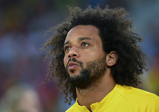 Marcelo Vieira, lateral izquierdo de la selección de Brasil