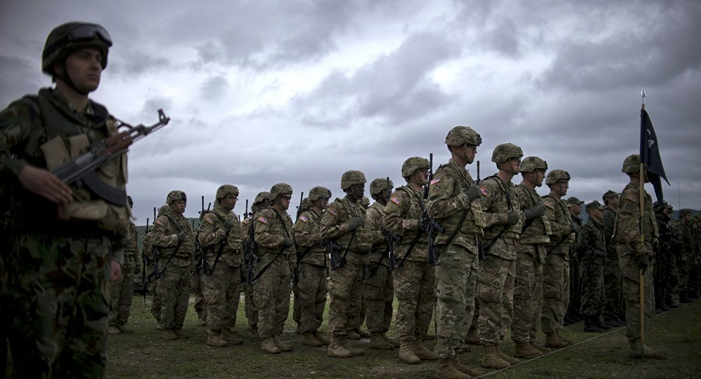 Los soldados estadounidenses durante las maniobras de la OTAN en Europa del Este