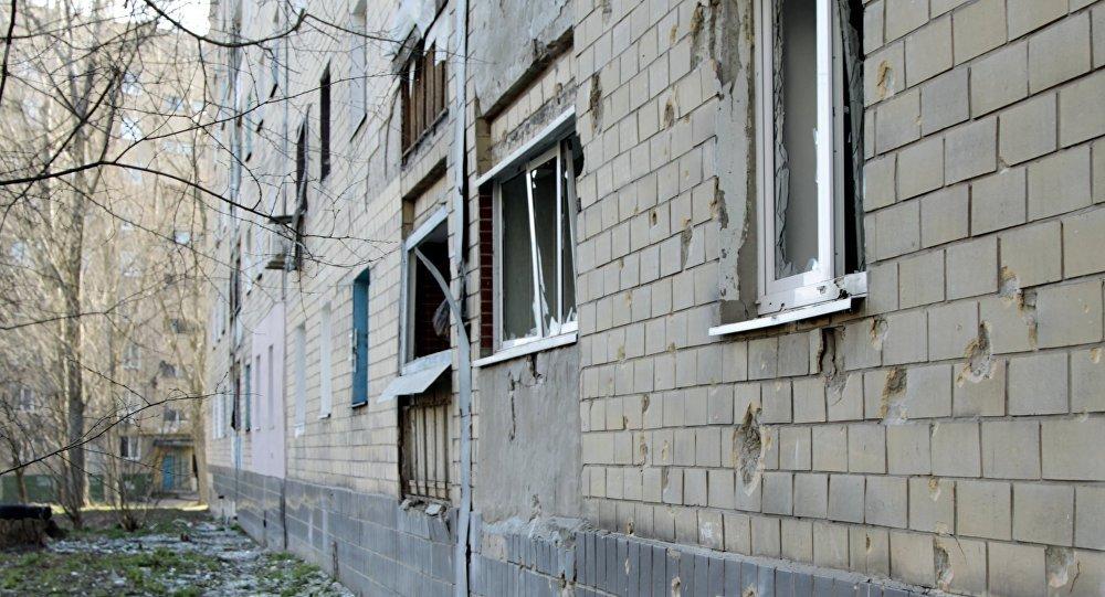 Las consecuencias del tiroteo en Donetsk (archivo)