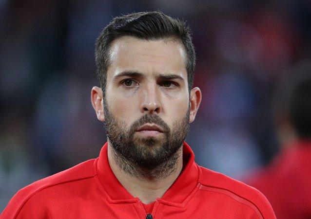 Jordi Alba, jugador de la selección española de fútbol