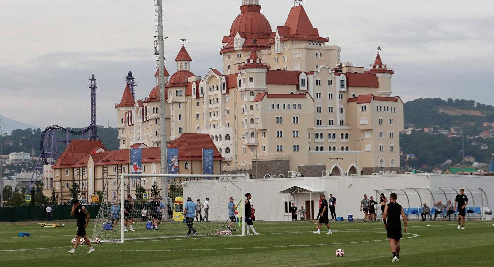 La selección de Uruguay entrena en Sochi