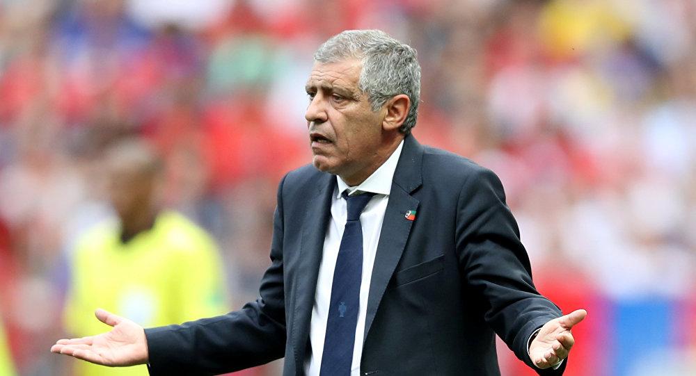 El director técnico de Portugal, Fernando Santos