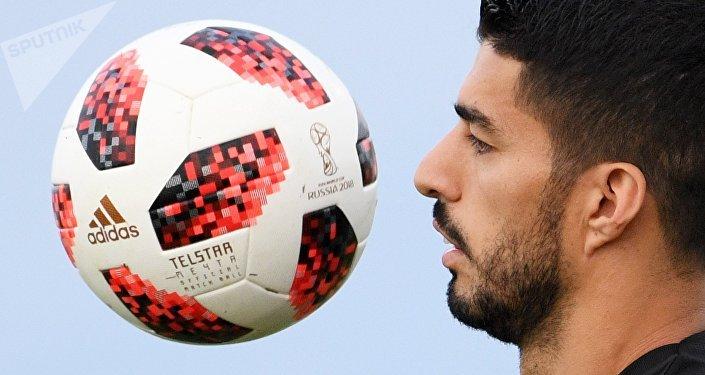 Luis Suárez, delantero de la selección de Uruguay