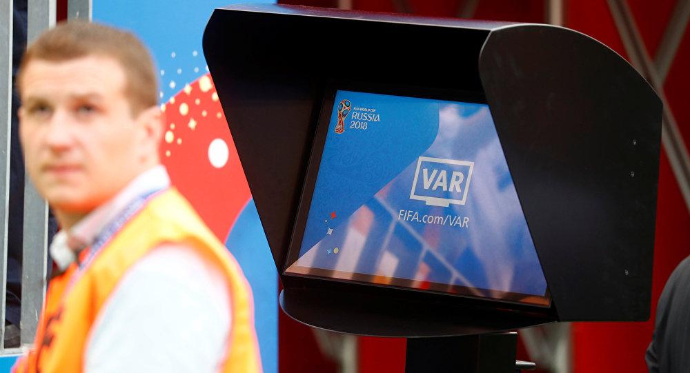 Una pantalla del VAR