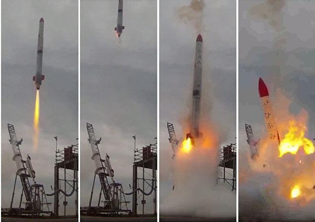 El fallo del cohete espacial MOMO-2