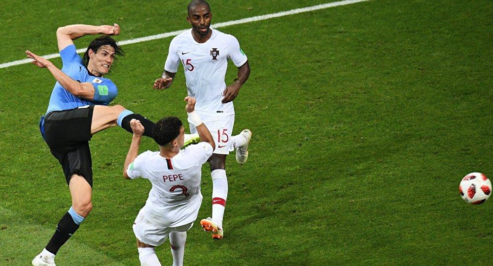 El partido Uruguay-Portugal