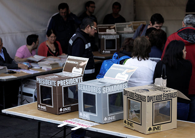 Urnas de votación en Ciudad de México