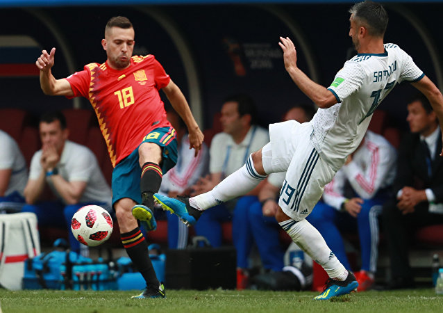 El partido entre España y Rusia en Luzhniki