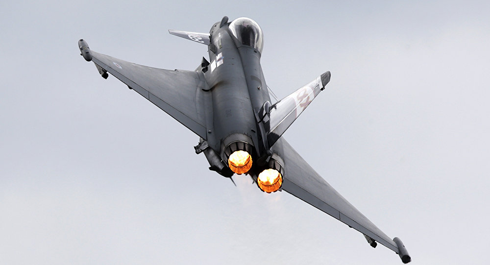 Un Eurofighter Typhoon (archivo)