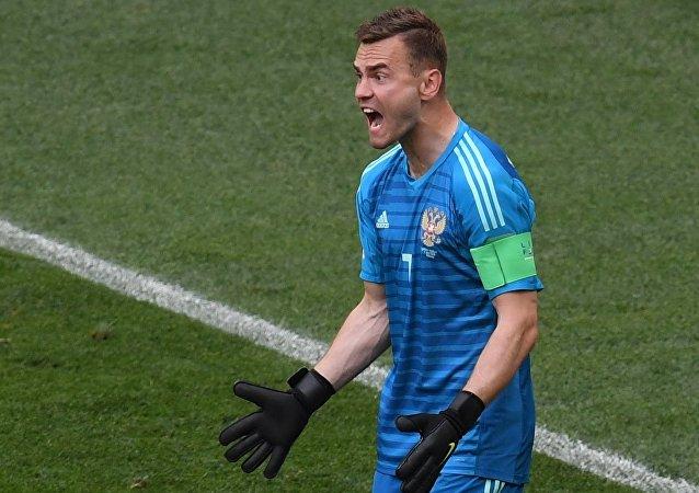 Ígor Akinféev, portero de la selección de Rusia