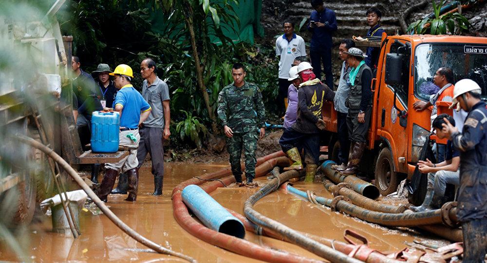 La búsqueda de los niños atrapados en una cueva de Chiang Rai (Tailandia)