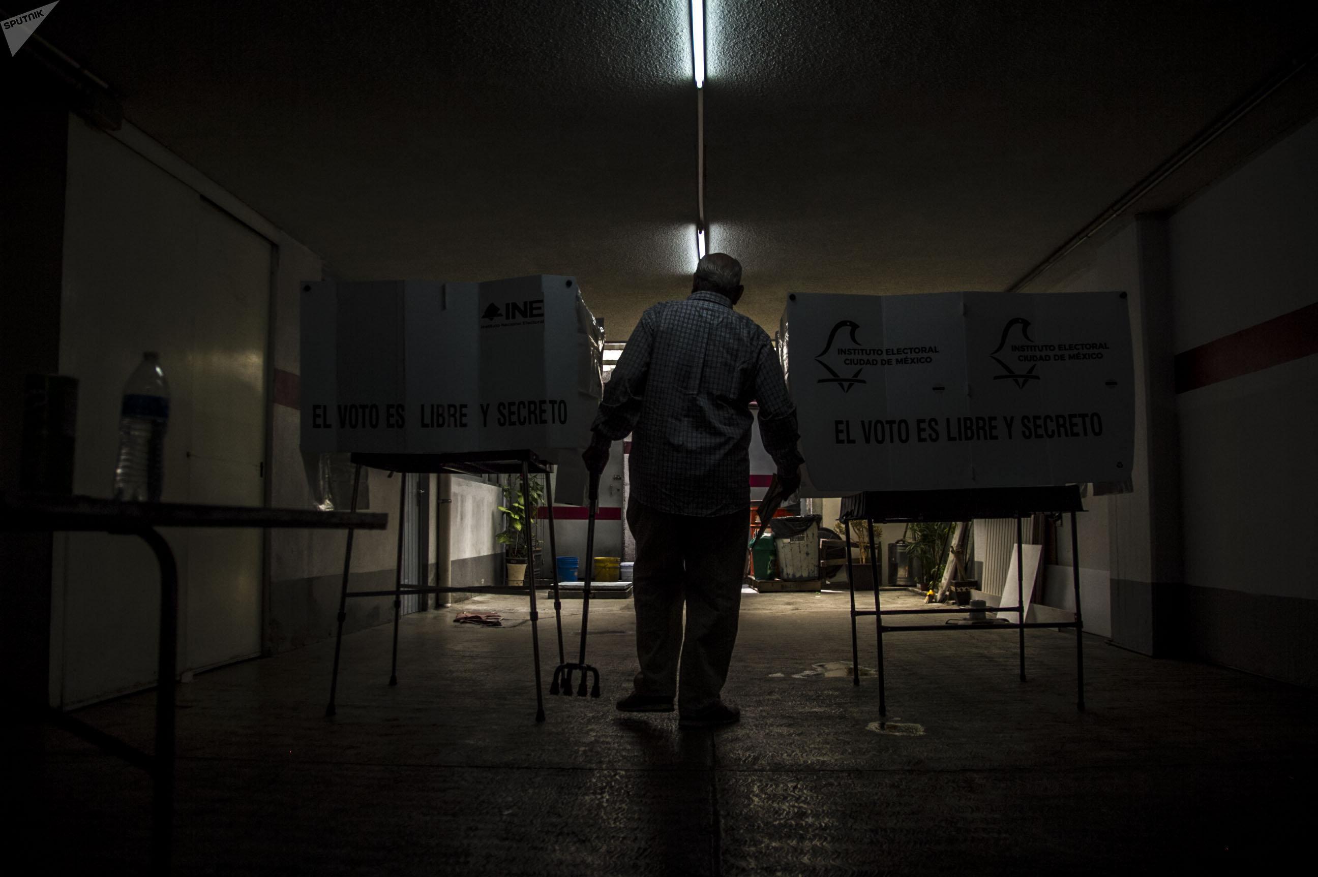Escena de las elecciones presidenciales en México