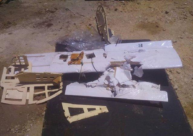 Uno de los drones que atacaron la base de Hmeymim