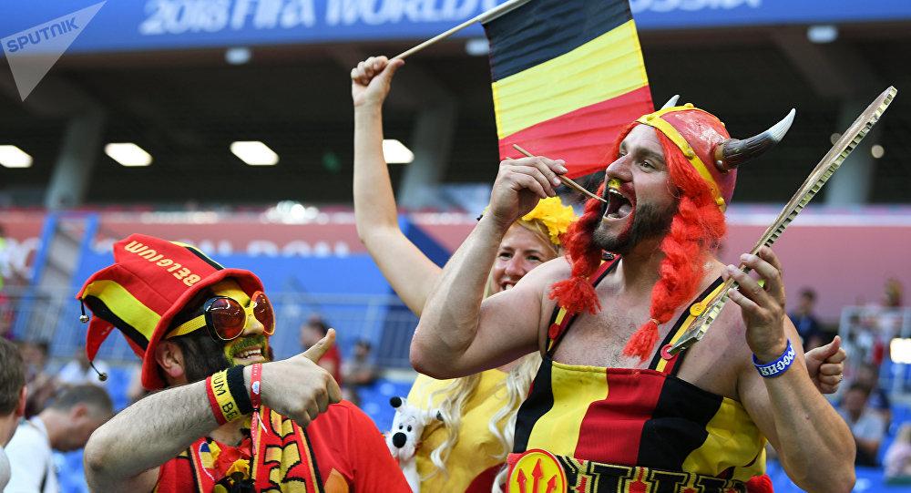 Hinchas de Bélgica