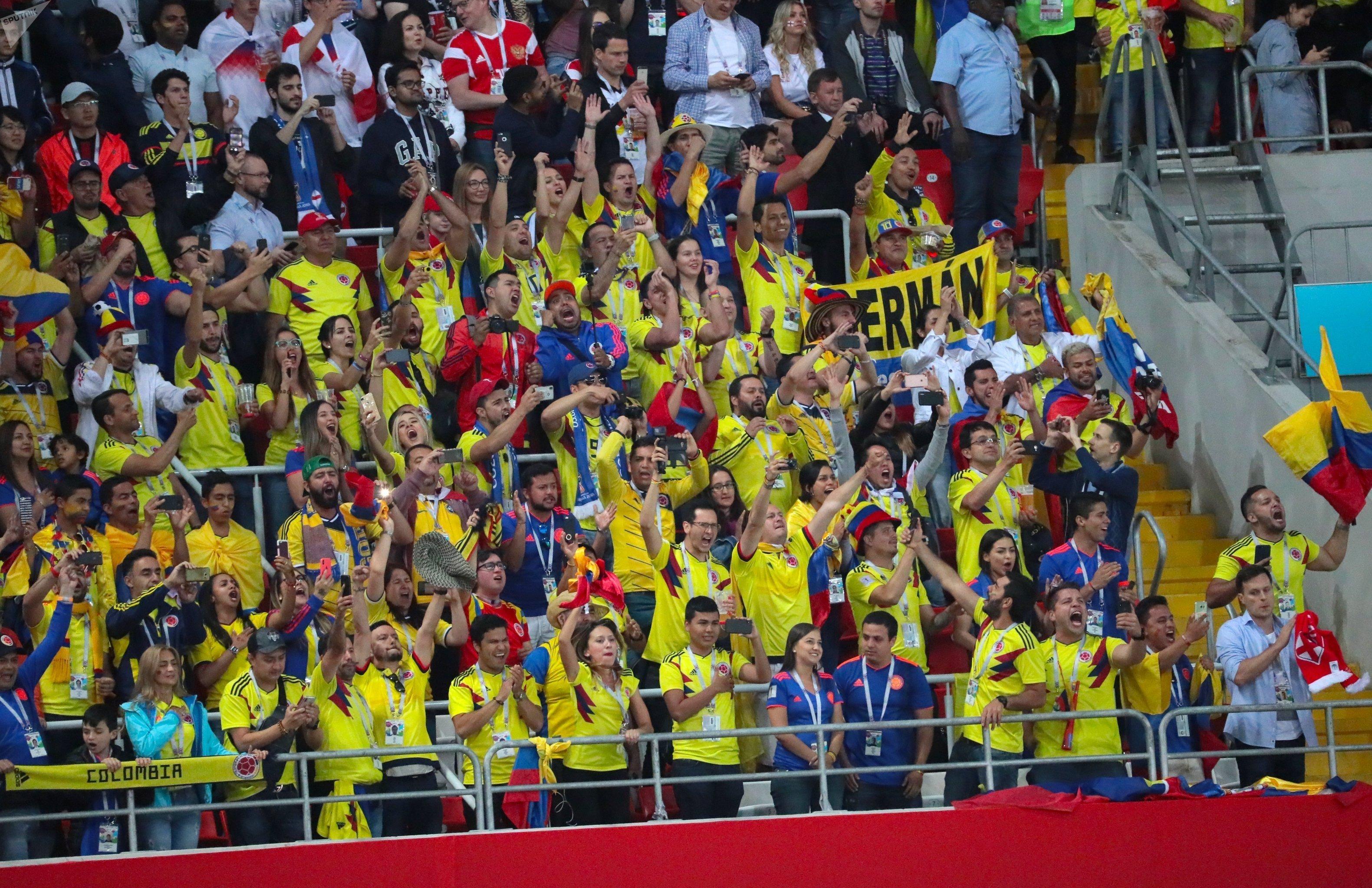 El estadio Spartak durante el partido Colombia – Inglaterra