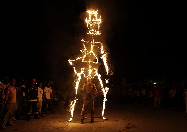 Quema del diablo, Festival del Caribe, Cuba