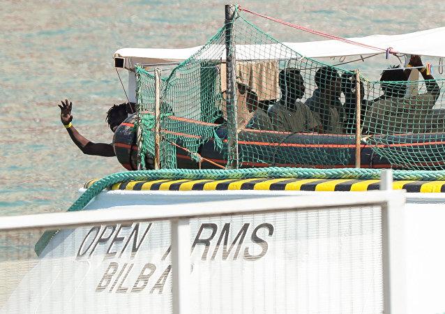 El barco Open Arms, perteneciente a la ONG española Proactiva Open Arms