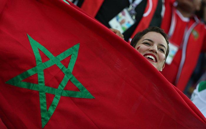 Una hincha de Marruecos