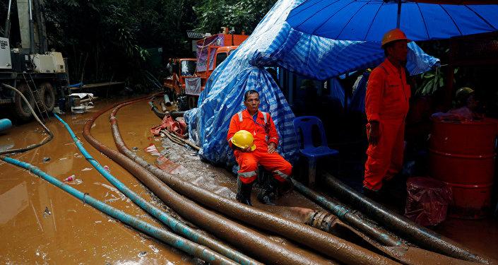 Operación de rescate en Tailandia