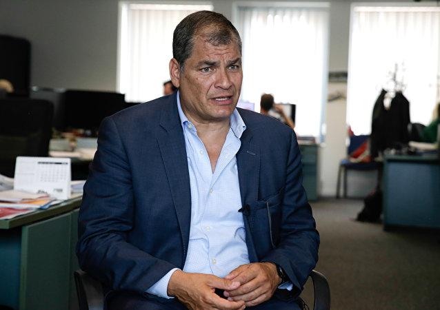 Rafael Correa, expresdente de Ecuador (archivo)